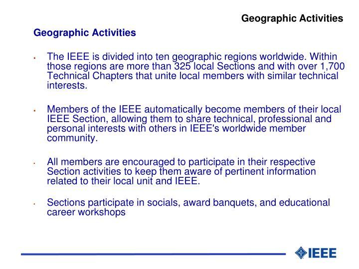Geographic Activities