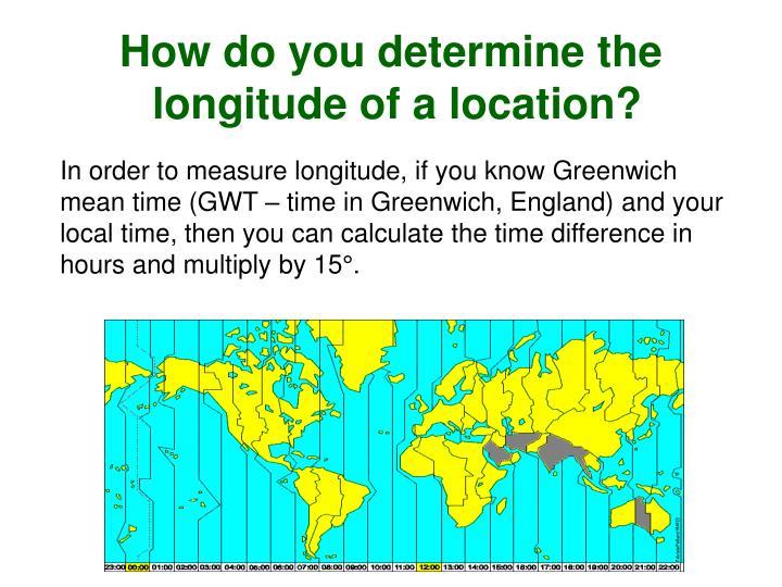How do you determine the