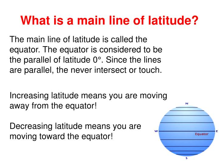 What is a main line of latitude?