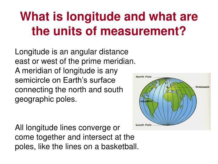 What is longitude and what are