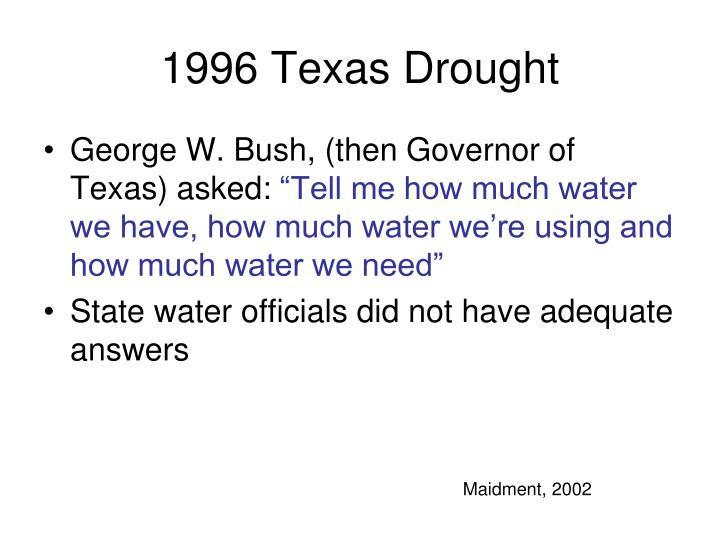 1996 Texas Drought