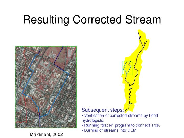 Resulting Corrected Stream