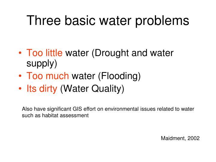 Three basic water problems