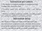 infestation prevention