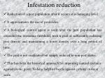 infestation reduction