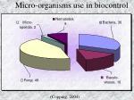 micro organisms use in biocontrol