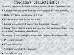 predators characteristics