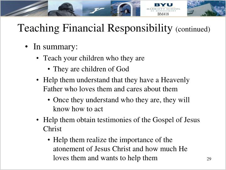 Teaching Financial Responsibility