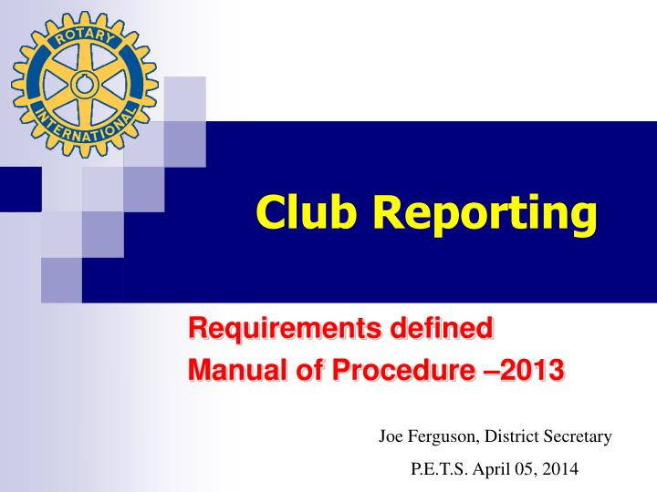 club reporting