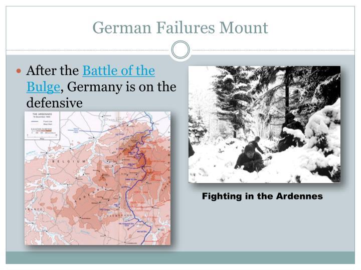 German failures mount