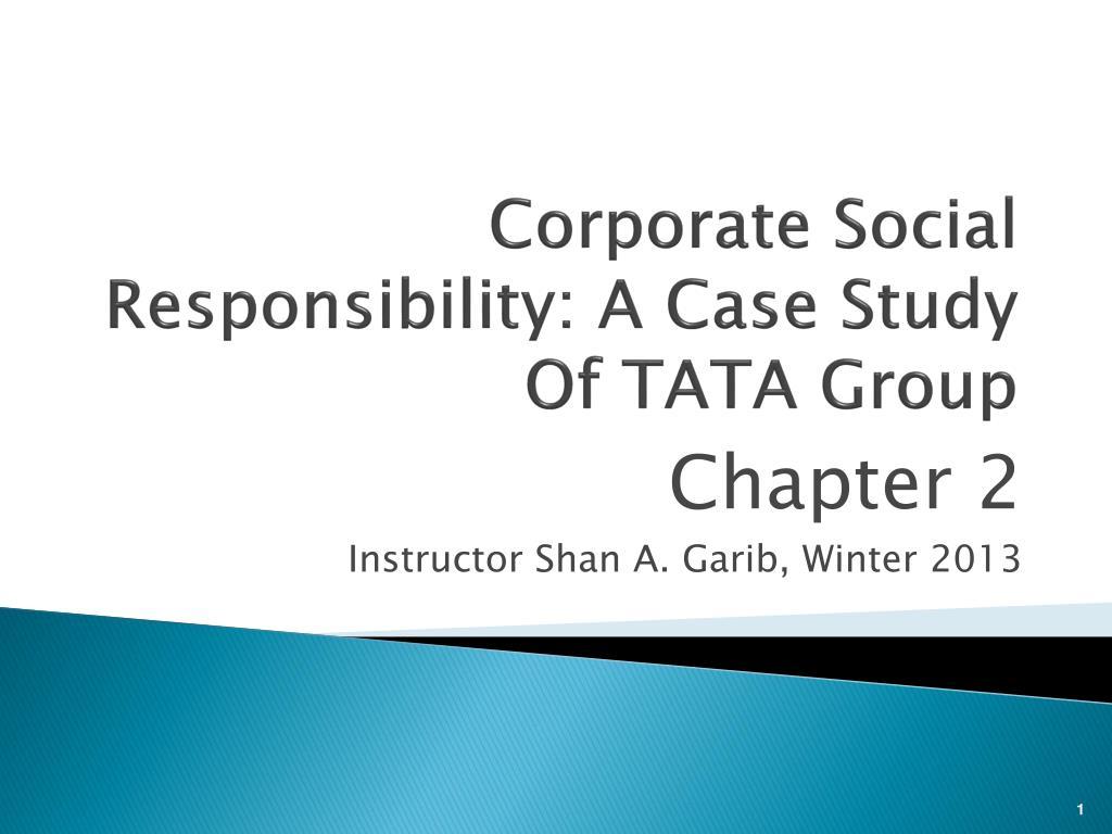 social responsibility of tata group