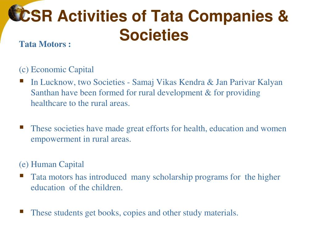 PPT - Corporate Social Responsibility: A Case Study Of TATA