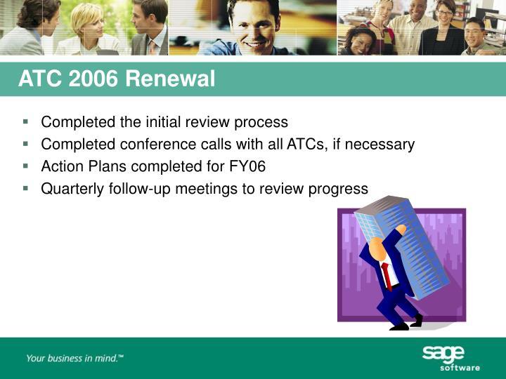 ATC 2006 Renewal