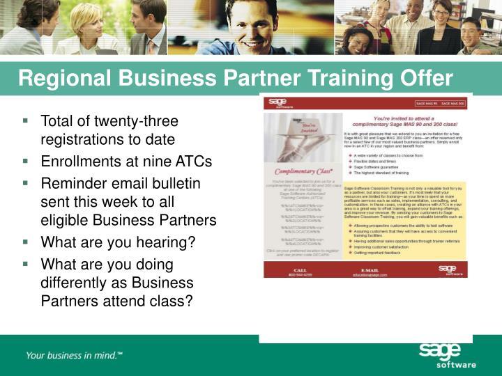 Regional Business Partner Training Offer
