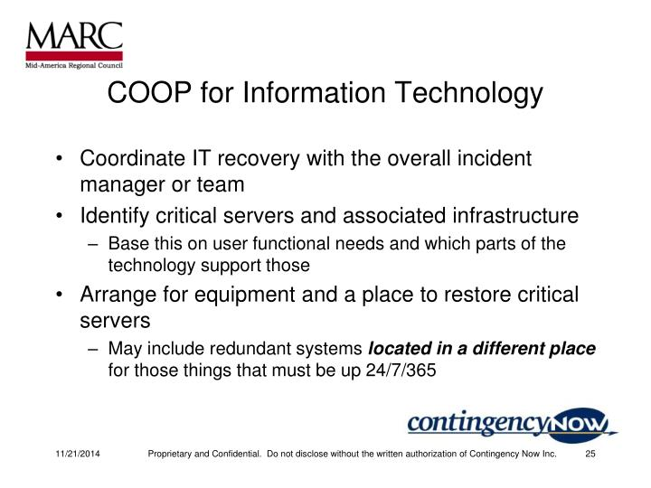 COOP for Information Technology