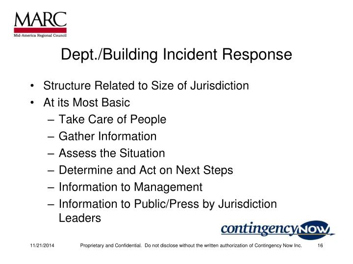 Dept./Building Incident Response