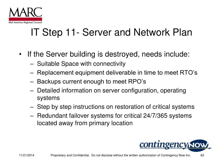IT Step 11- Server and Network Plan