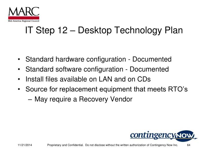 IT Step 12 – Desktop Technology Plan