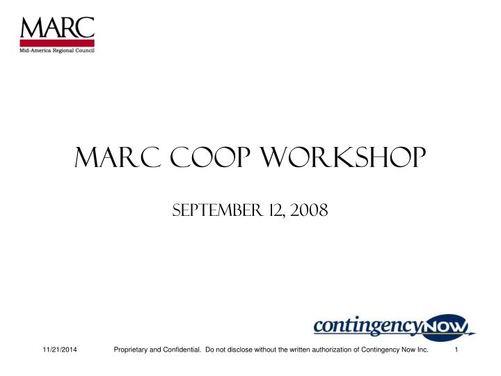 Marc coop workshop