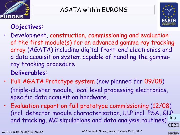 agata within eurons n.