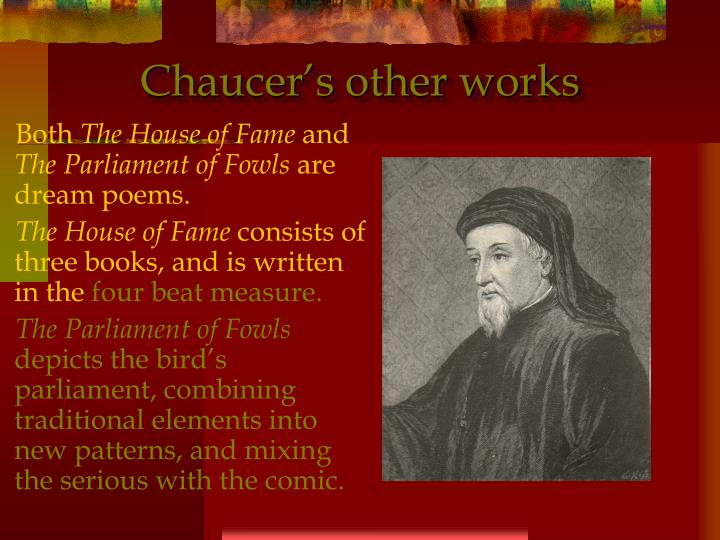 Chaucer's other works