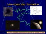 low mass star formation