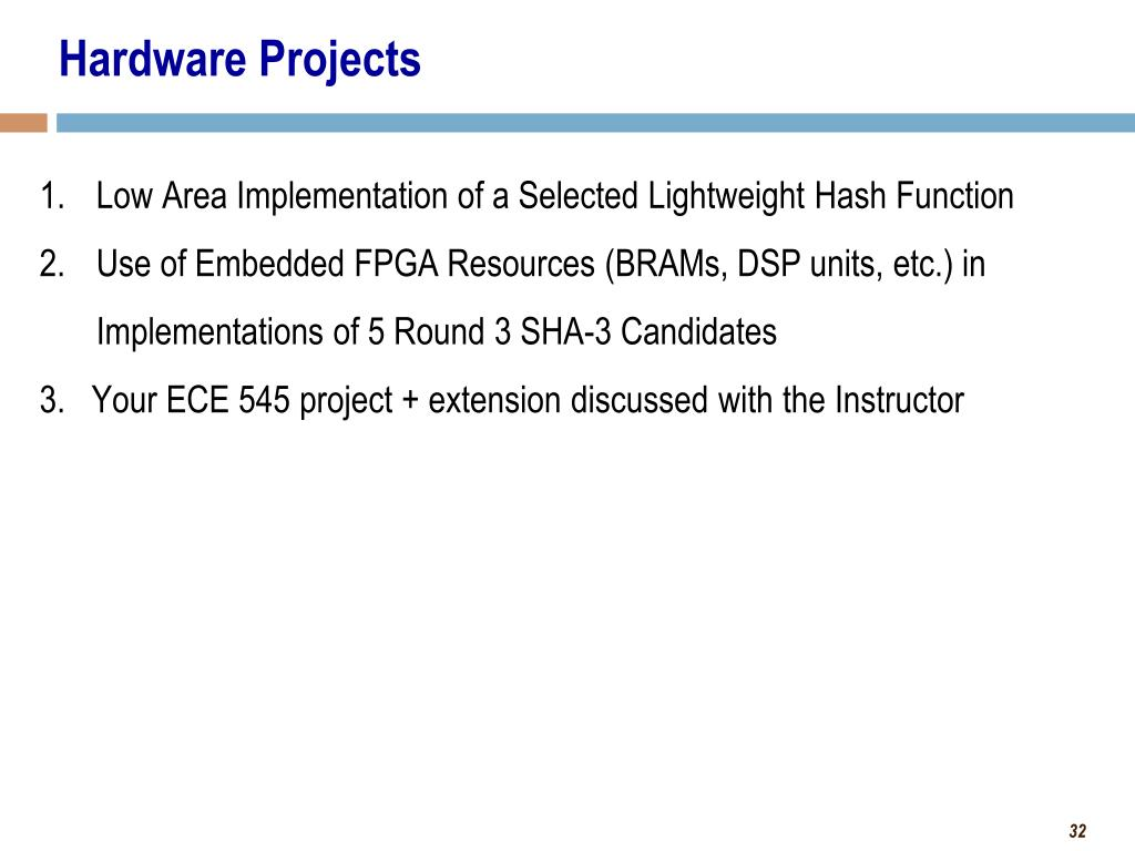 Embedded Fpga Projects