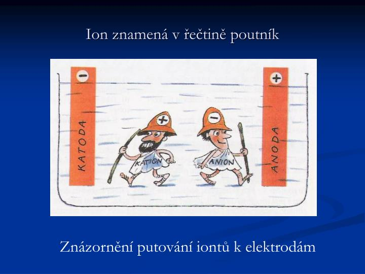 Ion znamená v řečtině poutník