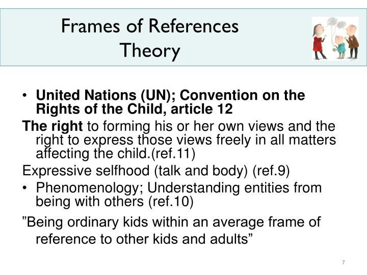 Frames of References