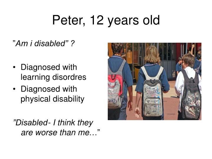 Peter, 12 years old