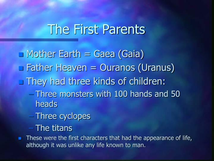 The First Parents