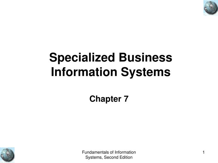 specialized business information systems n.