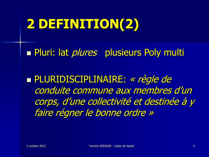 2 DEFINITION(2)