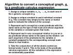 algorithm to convert a conceptual graph g to a predicate calculus expression