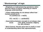 shortcomings of logic