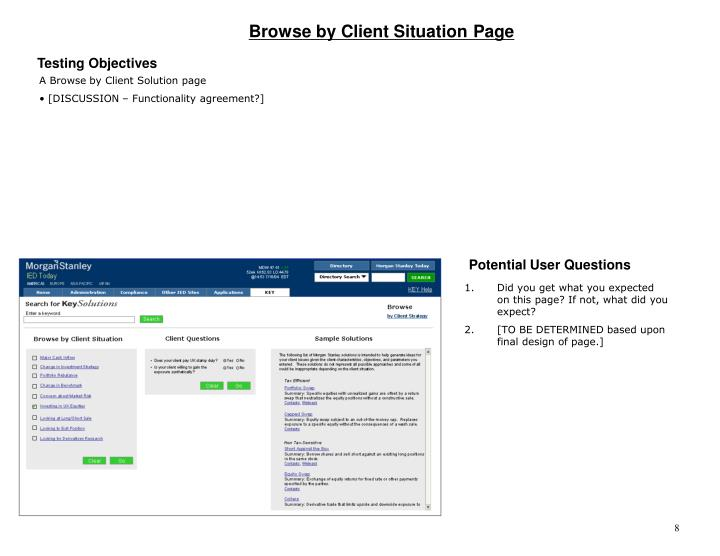 Browse by Client Situation