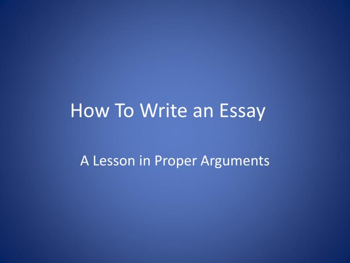 """powerpoint presentation on how to write an essay Writing essays: the writing process revised 4/20/10 page 1 of 4 essay writing step by step """"write an essay but i don't know how""""."""