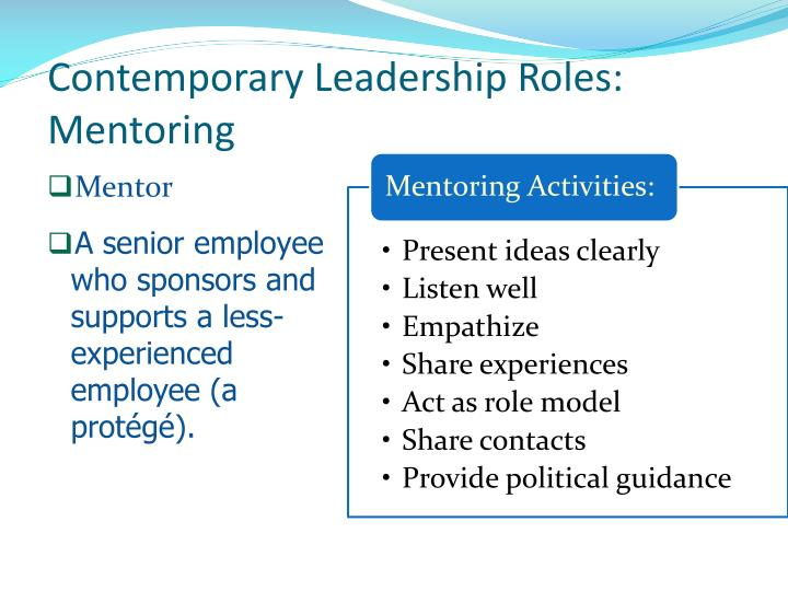 Contemporary Leadership Roles: Mentoring