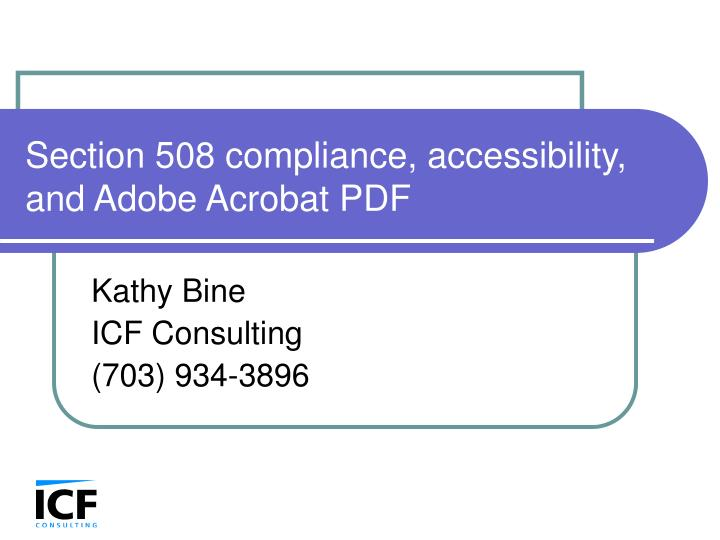 section 508 compliance accessibility and adobe acrobat pdf n.