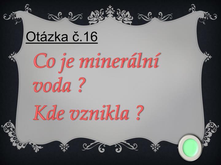 Otázka č.16
