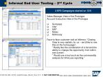 informal end user testing 2 nd cycle