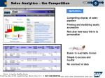 sales analytics the competition