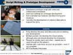 script writing prototype development