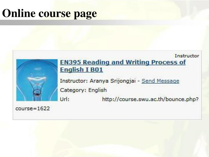 Online course page