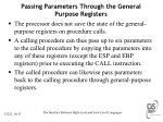 passing parameters through the general purpose registers