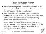 return instruction pointer