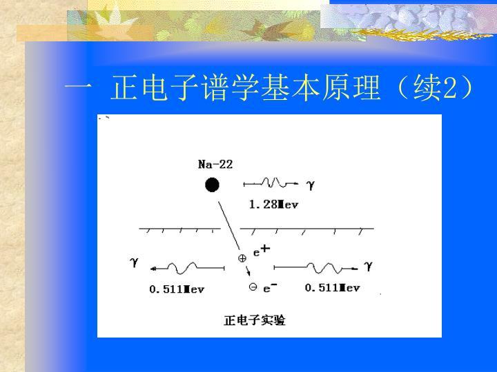 一 正电子谱学基本原理(续
