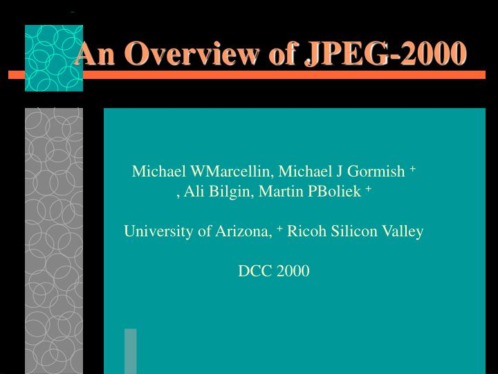an overview of jpeg 2000 n.