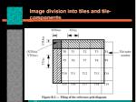 image division into tiles and tile components