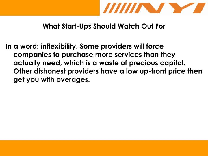 What Start-Ups Should Watch Out For